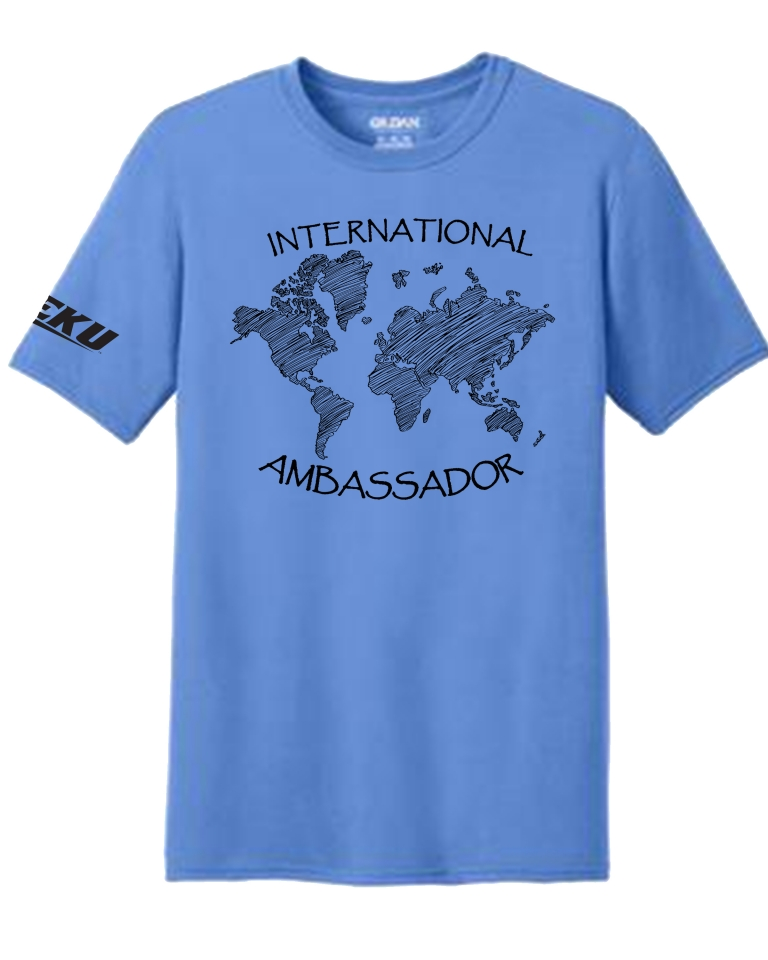 EKU International Ambassadors tshirt