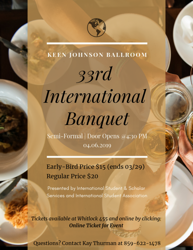 International Banquet Flyer